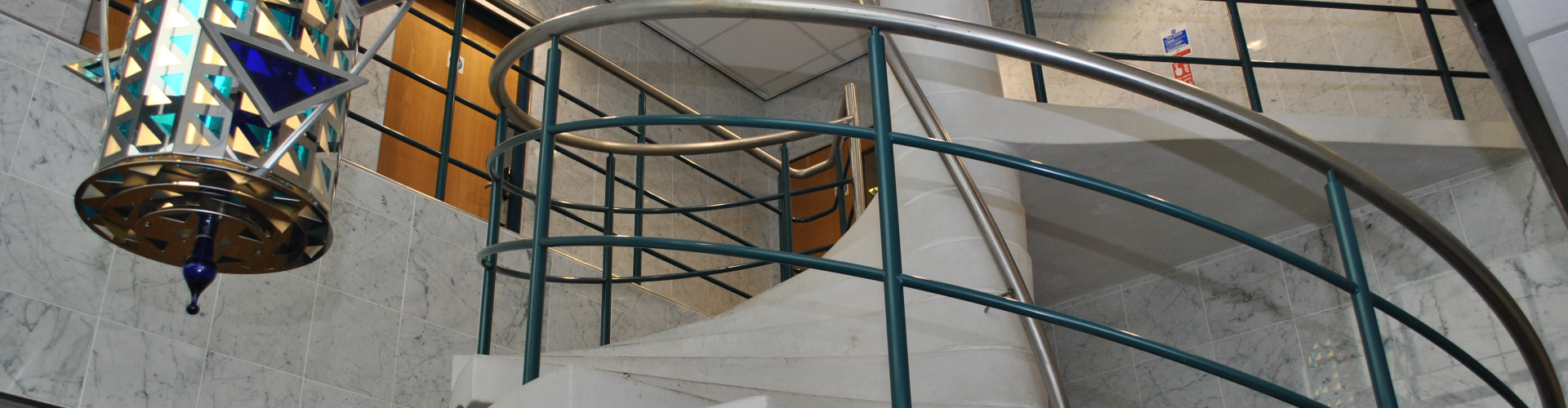 Image of stairway at Europa House.